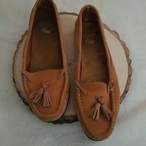 G.H. Bass & Co Light Brown Leather Moccasins 8.5M